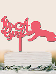 cheap -Cake Topper New Baby Birthday High Quality Plastic Special Occasion Party/Evening With PVC Bag