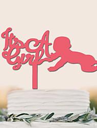 Недорогие -Украшения для торта День рождения Новорожденный Высокое качество пластик Особые случаи Вечерние с 1 Пластмассовая сумка