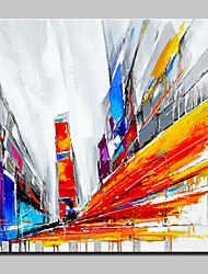 Big Size Hand-Painted City Oil Painting On Canvas Wall Art Pictures For Home Decoration No Frame