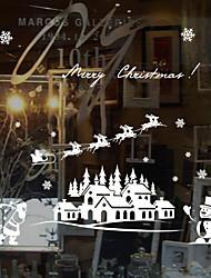 cheap -Window Film Window Decals Style Merry Christmas PVC Window Film
