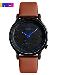cheap -Men's Sport Watch Dress Watch Smart Watch Fashion Watch Wrist watch Chinese Quartz Calendar / date / day LED Large Dial Genuine Leather