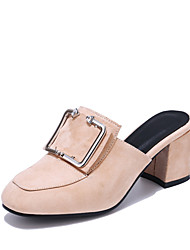 cheap -Women's Clogs & Mules Slingback Light Soles Leatherette Summer Casual Dress Slingback Light Soles Chunky Heel Blue Gray Beige Black2in-2