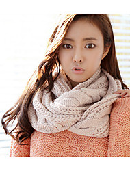 Infinity Scarf Sweater knittiWomen's Korea Color Block Scarves Shawl Winter Lady's Bohemia Valentine Christmas Gift Lovers Neck Warmers Thicker Warmth