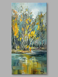 IARTS® Hand Painted Oil Painting Modern Forest Lake Abstract Art Acrylic Canvas Wall Art For Home Decoration