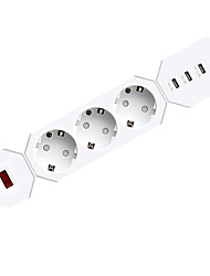 Usb interface power plug intelligenter blitzschutz power scoket eu plug 3 ports und 3outlets