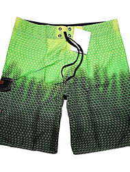 cheap -Men's Quick-Drying Breathable Bottoms Print Beach/Swim Shorts Polyester Summer Blue/Green
