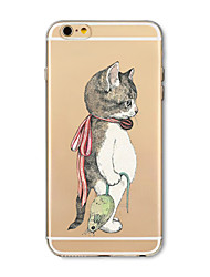 cheap -Case For Apple iPhone X iPhone 8 Plus Transparent Pattern Back Cover Cat Animal Soft TPU for iPhone X iPhone 8 Plus iPhone 8 iPhone 7