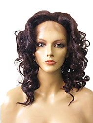 cheap -Lace Front Wig Natural Black Synthetic Fiber Wig Deep Wave Heat Resistant Wig