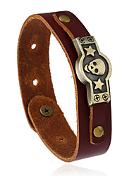 Retro Fashion Punk Accessories Genuine Leather Bracelet