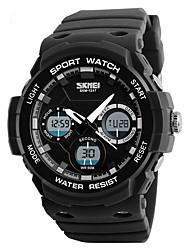 cheap -Men's Sport Watch Quartz LED Calendar Stopwatch Silicone Band Casual Black Brown Green Grey