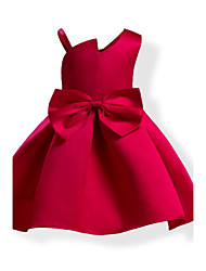 cheap -Girl's Solid Colored Bowknot Fashion Dress