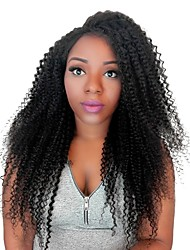 Kinky Curly Lace Front Human Hair Wigs For Black Women 130% Density Brazilian Remy Hair With Baby Hair