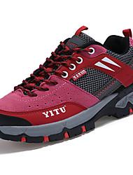 abordables -Femme Chaussures Polyuréthane Printemps Automne Confort Semelles Légères Chaussures d'Athlétisme Randonnée Talon Plat Bout rond Lacet pour