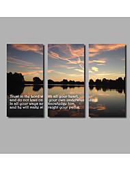 Недорогие -Холст для печати Абстракция,3 панели Холст Горизонтальная С картинкой Декор стены For Украшение дома