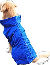 Cachorro Colete Roupas para Cães Prova-de-Água Sólido Laranja Amarelo Fúcsia Vermelho Azul