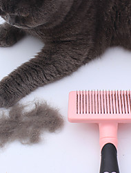 cheap -Cat Dog Grooming Health Care Comb Brush Adjustable / Retractable Blue Pink