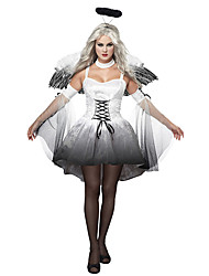 cheap -Costumes Angel & Devil Halloween White / Black Print Polyester Skirt / Sleeves / Wings / Headwear