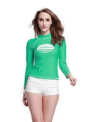 cheap -SBART Women's Wetsuits Wetsuit Skin Chinlon LYCRA® Diving Suit Long Sleeves Top-Beach Diving & Snorkeling Watersports All Seasons Print