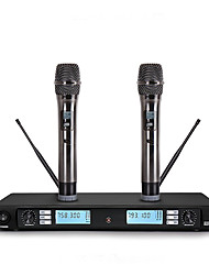 cheap -Wireless Microphone Karaoke System With Dual Handheld Transmitter Microfone Mic
