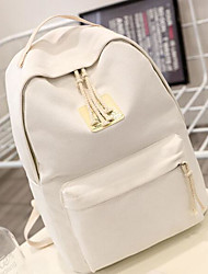 Women Bags All Seasons Canvas Backpack for Casual Blue White Blushing Pink