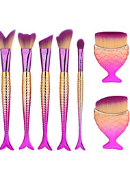 cheap -7pcs Makeup Brush Set Synthetic Hair EyeShadow Bronzer Blush Powder Foundation