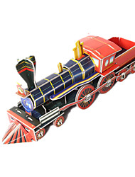 cheap -Toy Cars 3D Puzzles Jigsaw Puzzle Train Toys Train 3D DIY High Quality Paper Not Specified Unisex Boys Pieces
