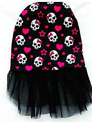 abordables -Chien Robe Vêtements pour Chien Respirable Décontracté / Quotidien Crânes Orange Jaune Rouge Bleu Noir et Bleu Costume Pour les animaux