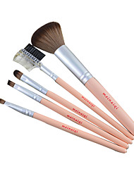 New Arrival 5pcs/set Makeup Brushes Set For Beginner New Style Powder Brush With Long Wood Handle Women Beauty Cosmetic Tool
