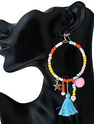 economico -Per donna Chiusura/gancio dell'orecchino Orecchini a goccia palla orecchini Circolare stile della Boemia Personalizzato Fatto a mano
