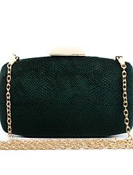 Women Bags All Seasons Velvet Evening Bag Plaid for Wedding Event/Party Casual Formal Office & Career Gold Green Black Gray