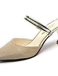 economico -Da donna Pantofole e infradito Suole leggere PU (Poliuretano) Estate Casual Footing Suole leggere A stiletto Oro Argento 5 - 7 cm