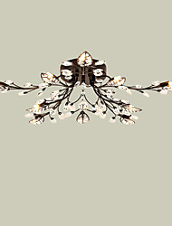 LightMyself 10 Lights Modern Crystal Ceiling Lamp Black Indoors Lights for Living Room Bedroom Dining Room