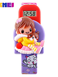 SKMEI Kid's Fashion Watch Wrist watch Digital Watch Digital Plastic Band Pink Purple