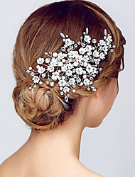 cheap -Crystal Tiaras Headbands Flowers Headwear with Floral 1pc Wedding Special Occasion Anniversary Housewarming Party / Evening Office &