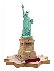 cheap -3D Puzzle Paper Model Paper Craft Model Building Kit Tower Famous buildings Statue Of Liberty DIY Classic Unisex Gift