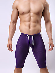 cheap -Hot! Fashion Design  8Colors Men's One-piece Lace Up Color Block Sport Mesh Solid Swimming trunks