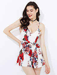 cheap -Women's Street chic Sheath Dress - Floral