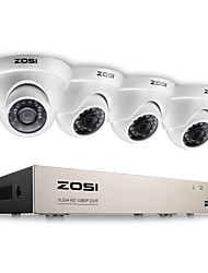 baratos -Zosi® 2.0mp 1080 p hd 4 ch dvr tvi kit de vigilância 4 pcs 2000tvl ao ar livre ir night vision camera sistema de cftv
