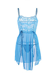 Women's Sexy Lace Mesh Babydoll & Slips NightwearSexy Lace Patchwork-Translucent