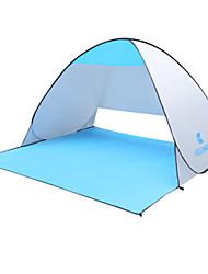 Недорогие -KEUMER 2 человека Тент для пляжа Световой тент Один экземляр Палатка Однокомнатная Тент для пляжа Дожденепроницаемый Защита от пыли для