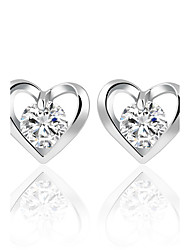 cheap -Women's Stud Earrings Crystal Cubic Zirconia Personalized Circular Classic Bohemian Heart British Elegant Euramerican Fashion Simple Style