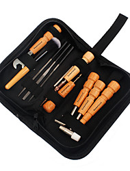 cheap -Professional Guitar Tool Kit Metallic Wooden Repair Tools Oxford Fabric Bag Musical Instrument Accessories