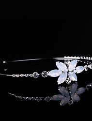 cheap -Crystal Rhinestone Alloy Headbands 1 Wedding Special Occasion Party / Evening Headpiece