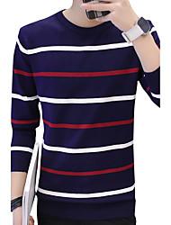 economico -Per uomo Semplici Manica lunga Pullover A strisce Con stampe Rotonda
