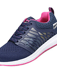 cheap -Women's Athletic Shoes Comfort Light Soles Spring Fall Breathable Mesh PU Athletic Casual Lace-up Flat Heel Black Dark Blue Purple Under