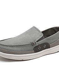 cheap -Men's Shoes Linen Summer Fall Comfort Loafers & Slip-Ons Split Joint For Casual Gray Green Blue