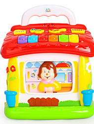 cheap -HUILE TOYS Music Toys Dollhouse Accessory Reading Toys Educational Toy Toys Plastics Pieces Baby Gift