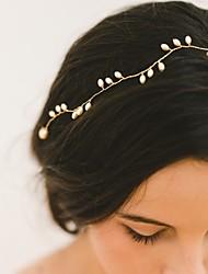 abordables -diadema de perlas de imitación cabeza de la cadena pelo herramienta casco estilo elegante