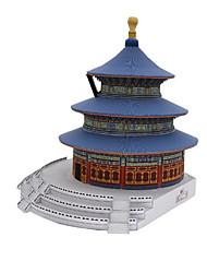 Недорогие -3D пазлы Бумажная модель Игрушки Квадратный Знаменитое здание Китайская архитектура Архитектура Своими руками Плотная бумага Не указано