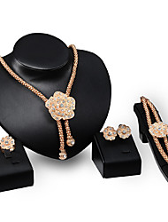 cheap -Women's Rhinestone Rhinestone / Gold Plated Luxury Others / Flower Jewelry Set - Personalized / Luxury / Vintage Gold Jewelry Set For